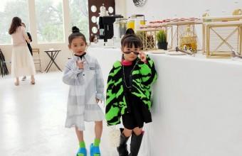 2021年4月19号广州品牌童装秋冬新品发布会自助餐活动现场